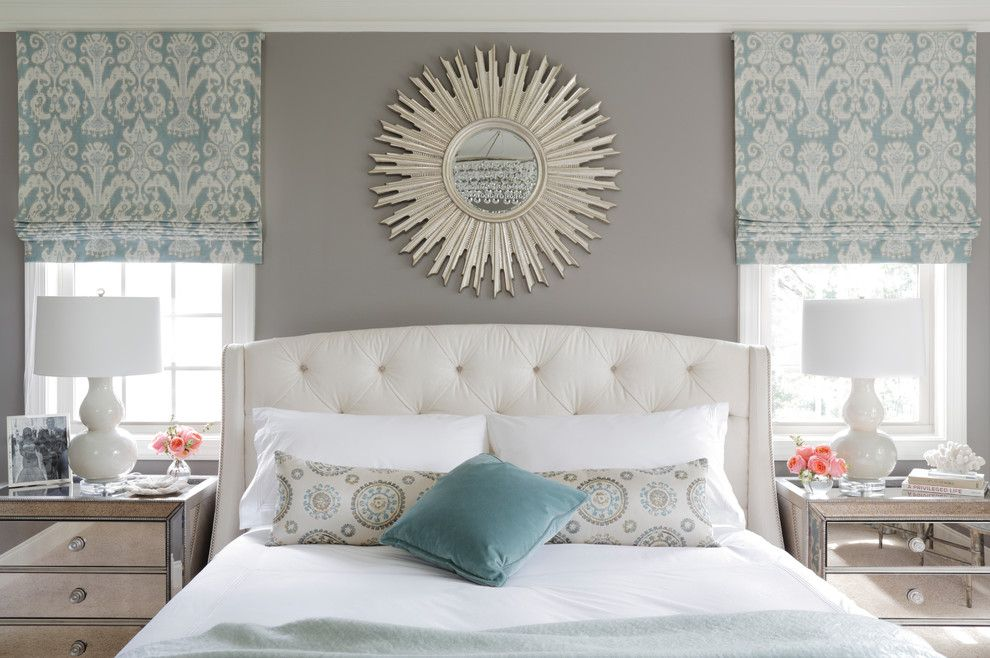 Bedroom Color Schemes for a Transitional Bedroom with a Natural Lighting and Refined Beauty Brookhaven by Minhnuyet Hardy Interiors