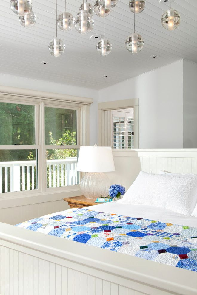 Behr Deckover Reviews for a Traditional Bedroom with a Headboard and Waterfront Estate by Jodi Foster Design + Planning