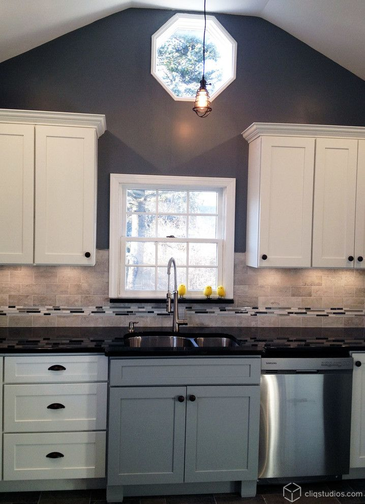Behr Deckover Reviews For A Traditional Kitchen With A Painted White  Cabinets And Multi Tone And
