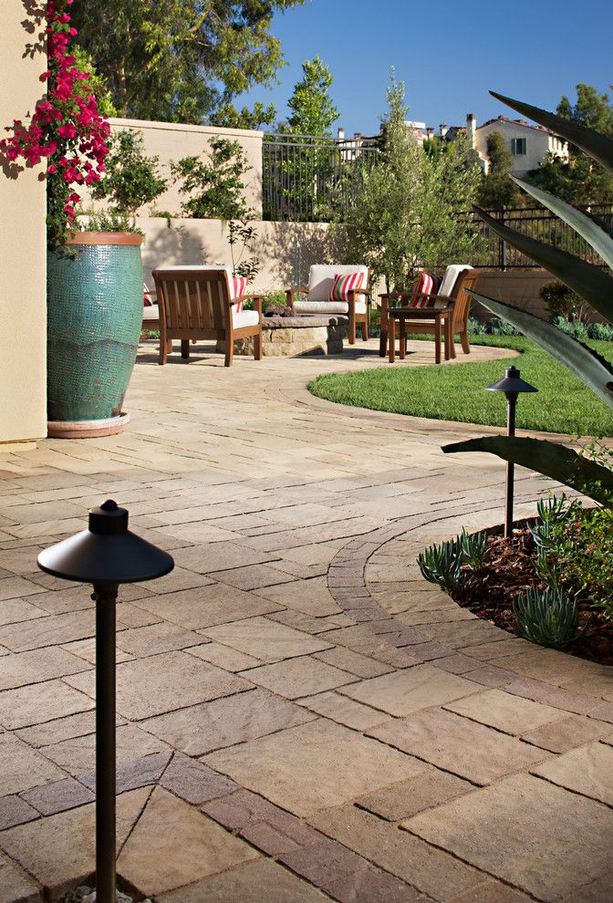 Belgard Pavers for a Contemporary Landscape with a Belgard Pavers and Wayne Weeks New Paver Patio & Outdoor Living Space by Install It Direct