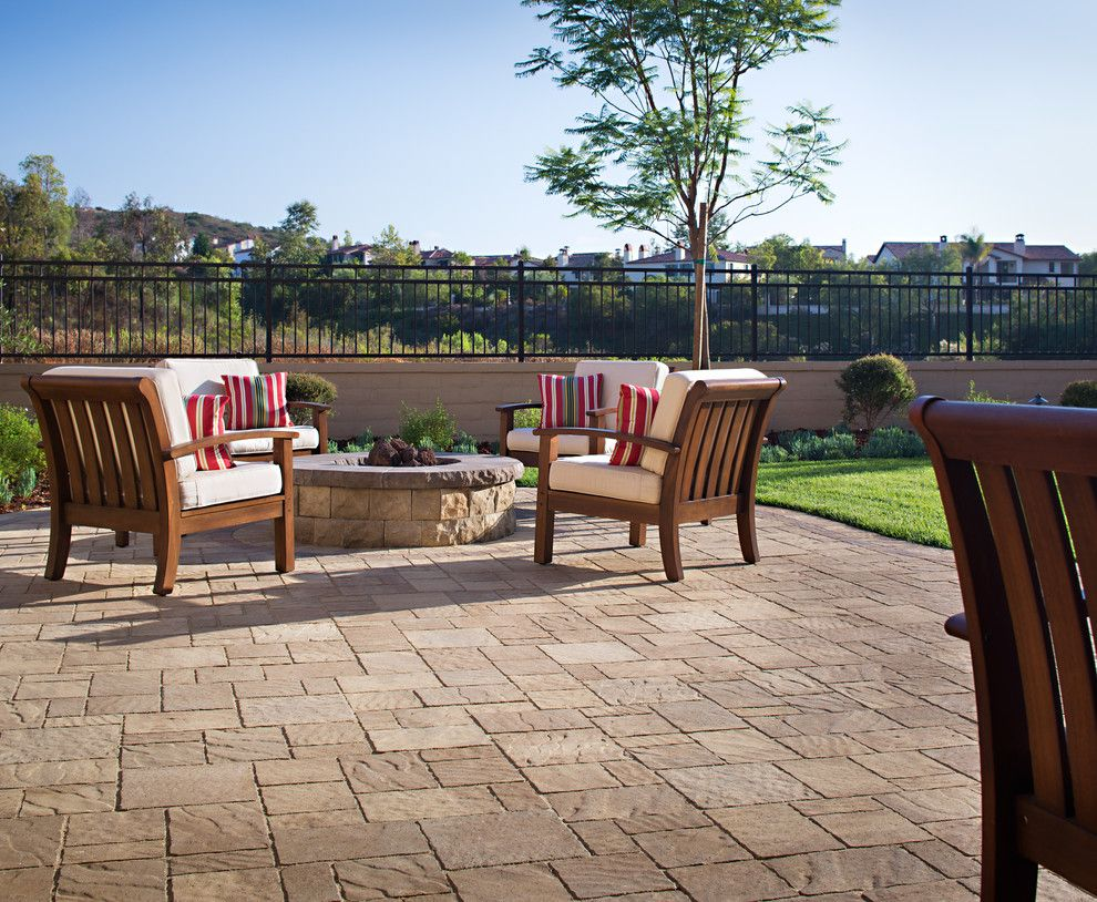Belgard Pavers for a Contemporary Landscape with a Pavers and Wayne Weeks New Paver Patio & Outdoor Living Space by Install It Direct