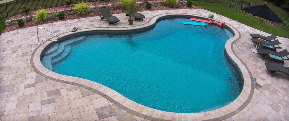 Belgard Pavers for a Craftsman Spaces with a Pool Pavers and Paver Patios, Stone Patios, Retaining Walls | Albany, Troy, Clifton Park, Latham by Pearl Landscaping & Patio Company