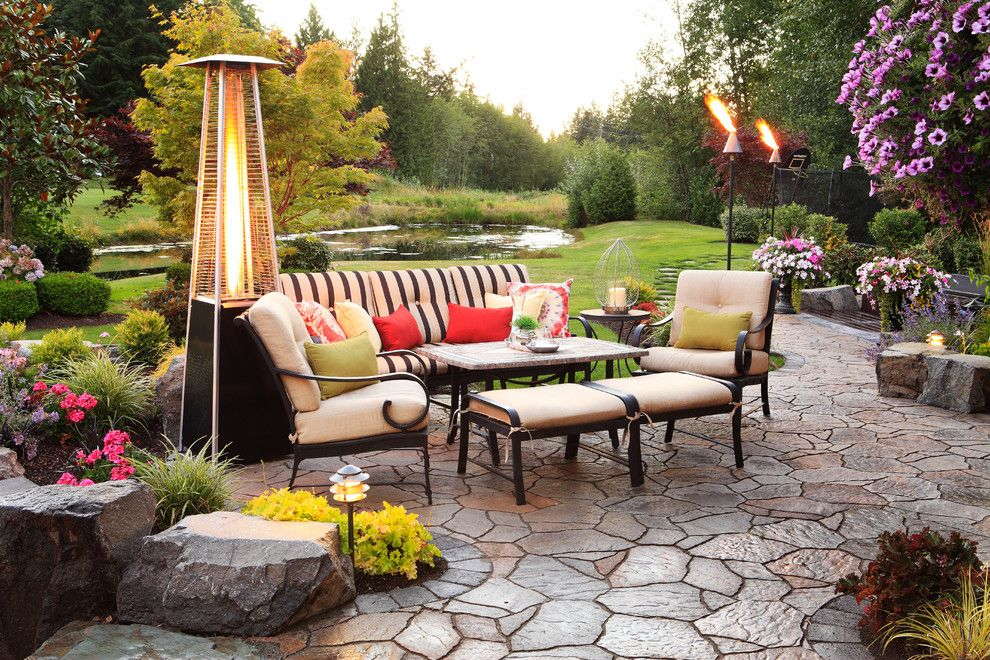 Belgard Pavers for a Traditional Patio with a Belgard Pavers and Patios and Pavers by Alderwood Landscape Architecture and Construction