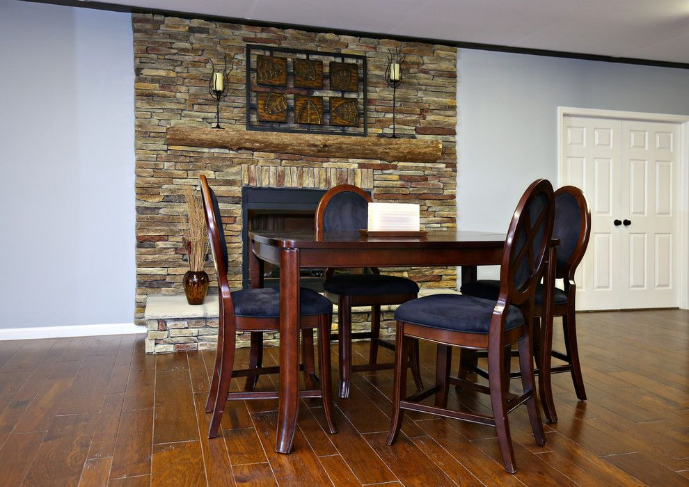 Bella Cera for a Eclectic Dining Room with a Hickory Hardwood and