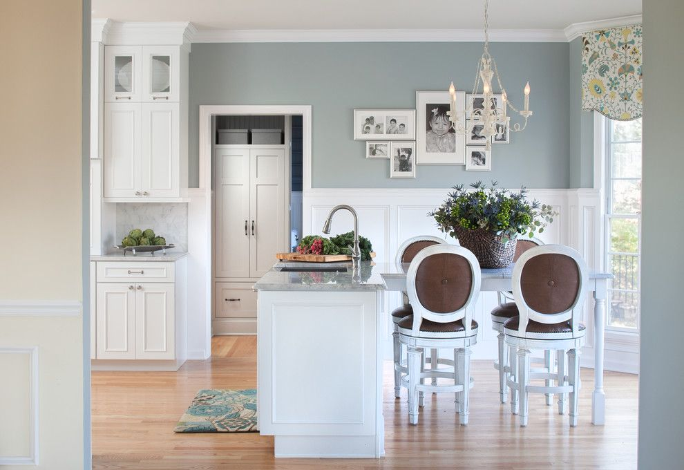 Benjamin Moore Coventry Gray for a Traditional Kitchen with a Brushed Nickel and Glastonbury, Ct Kitchen Renovation by Hartley and Hill Design