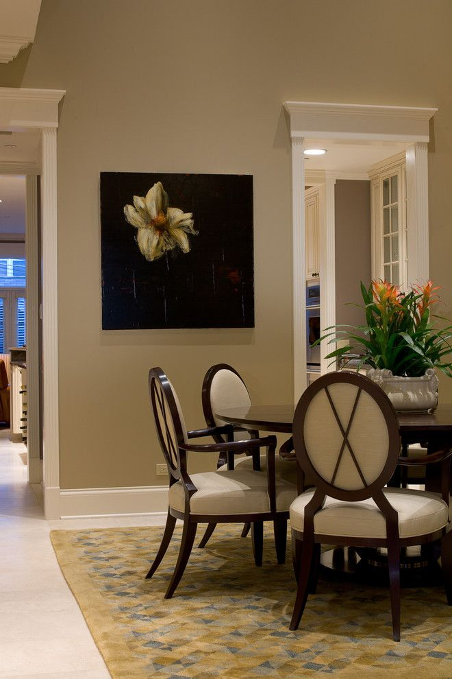 Benjamin Moore Grant Beige for a Traditional Dining Room with a Traditional and Dining Room by Michael Abrams Limited
