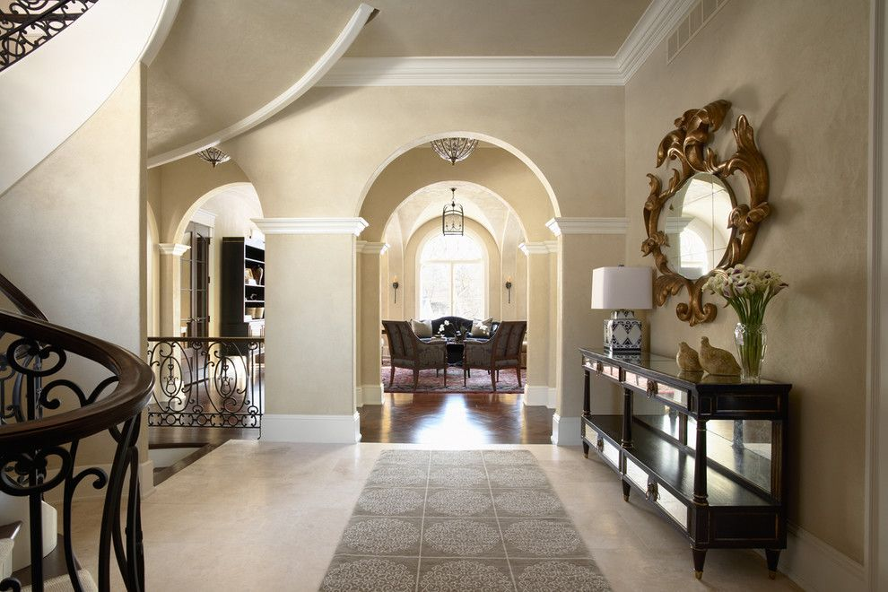 Benjamin Moore Grant Beige for a Traditional Entry with a Traditional and Merilane Avenue Residence 2 Foyer by Martha O'hara Interiors