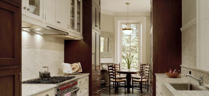 Benjamin Moore Grant Beige for a Traditional Kitchen with a Stainless Steel Appliances and Wyndmoor Residence Kitchen by Hanson Fine Building