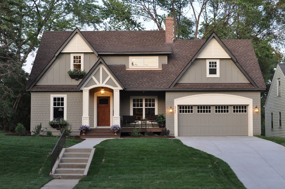 Benjamin Moore Gray Owl for a Traditional Exterior with a Entry and Salem Avenue Renovation by Sicora Design/build
