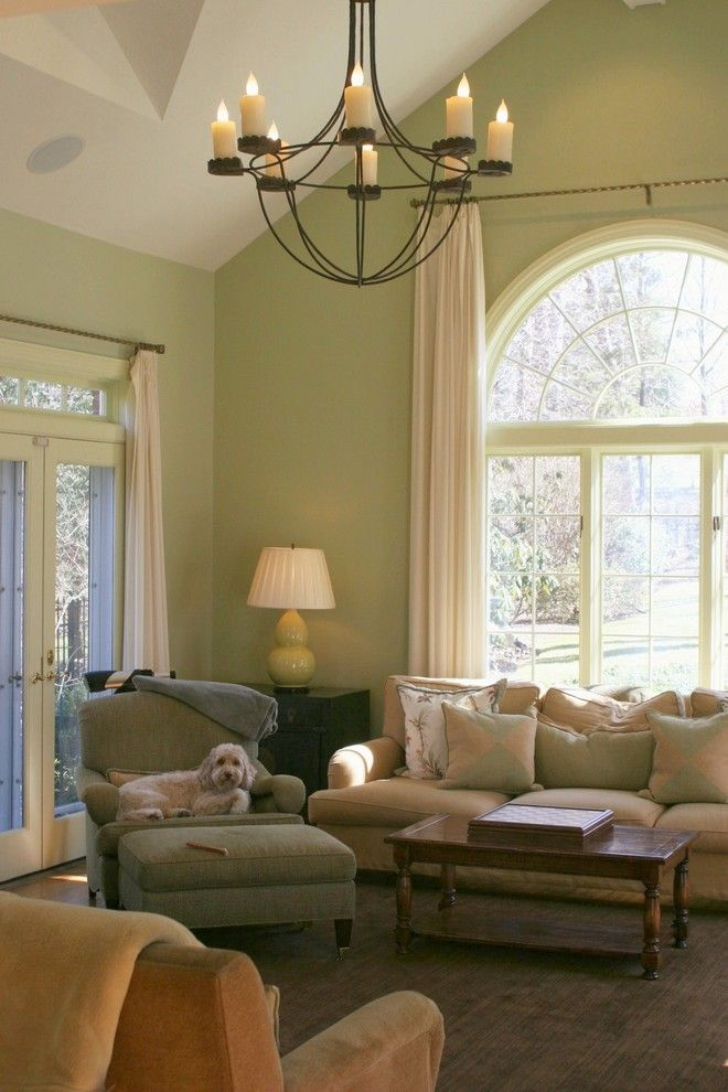 Benjamin Moore Guilford Green for a Contemporary Living Room with a Green Walls and Kbk Interior Design Portfolio by Kingsley Belcher Knauss, Asid