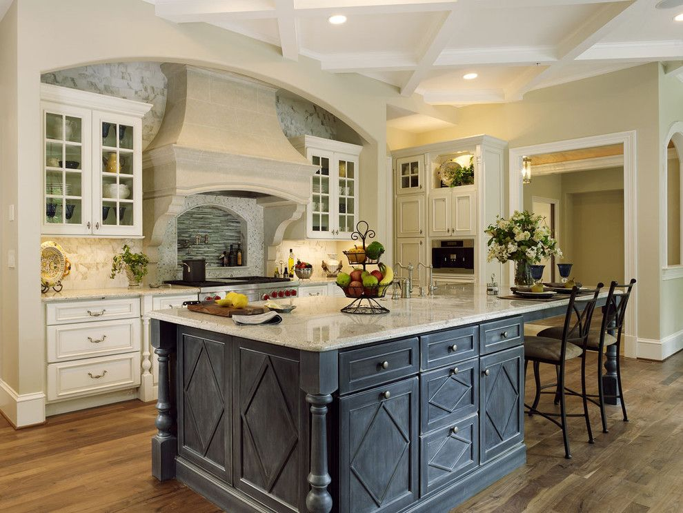 Benjamin Moore Moonshine for a Traditional Kitchen with a Bertch Custom Cabinets and Rockville, Md Kitchen Renovation by Ferguson Bath, Kitchen & Lighting Gallery
