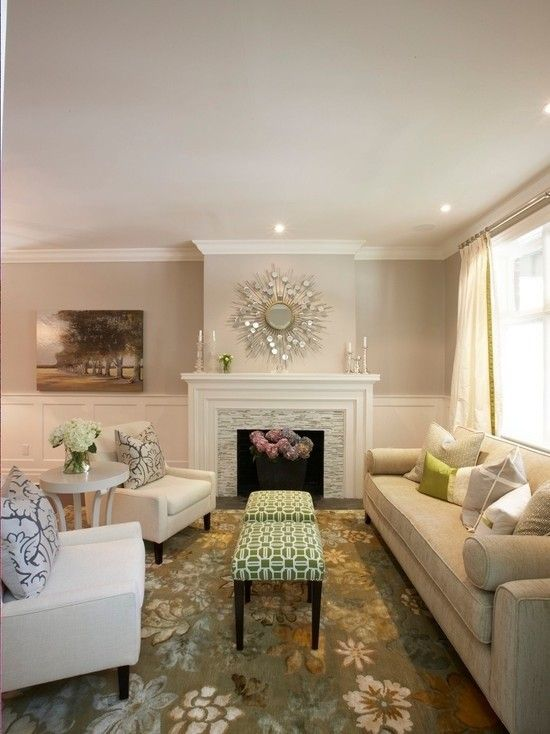 Benjamin Moore Muslin for a Contemporary Living Room with a Contemporary and Benjamin Moore Paint Ideas   Living Rooms by House of Excellence