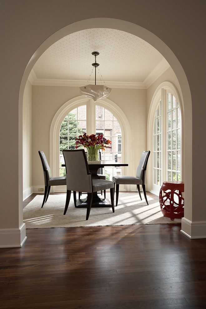 Benjamin Moore Muslin for a Traditional Dining Room with a Informal Dining and Summit Avenue Duplex  Traditional by David Heide Design Studio