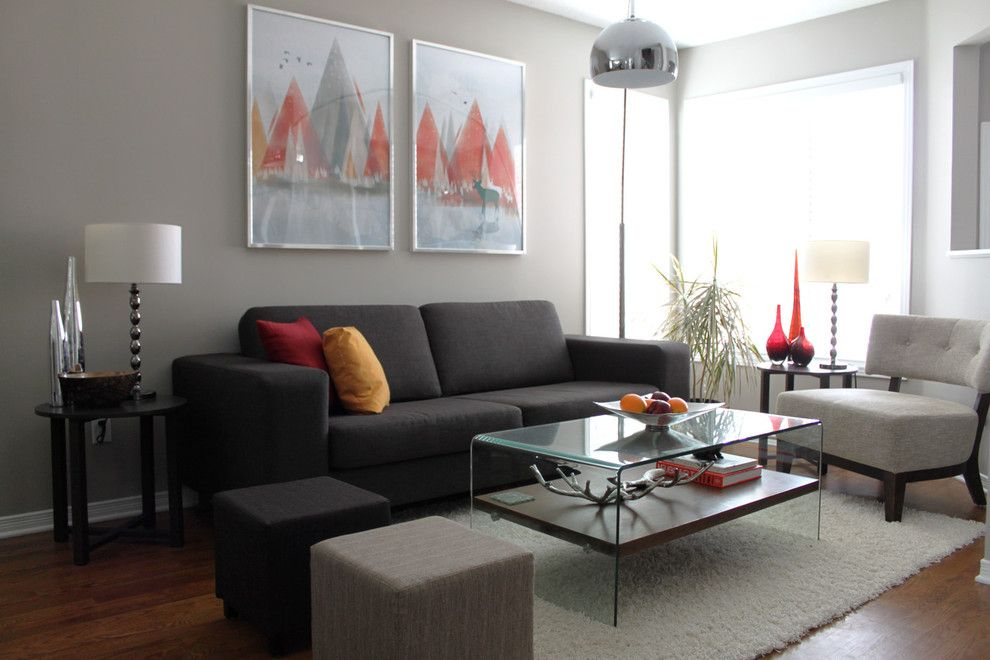 Benjamin Moore Paint Home Depot for a Contemporary Living Room with a Wall Art and Personal Home Tour by Leclair Decor