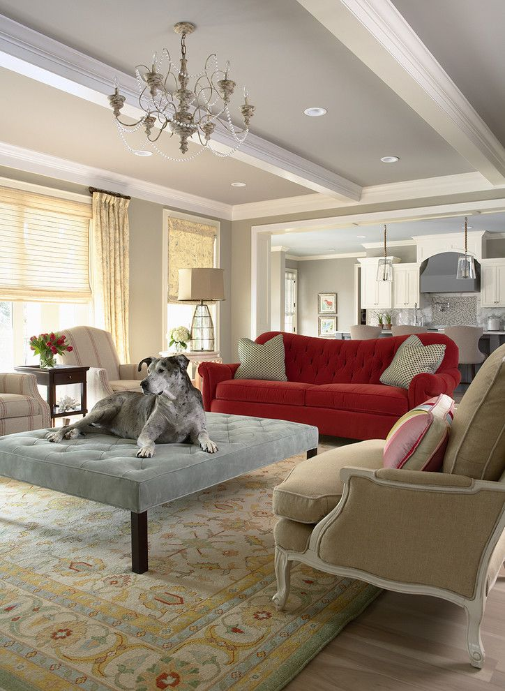 Benjamin Moore Paint Home Depot for a Traditional Living Room with a Family Room and Bridge Street Residence Living Room by Martha O'hara Interiors