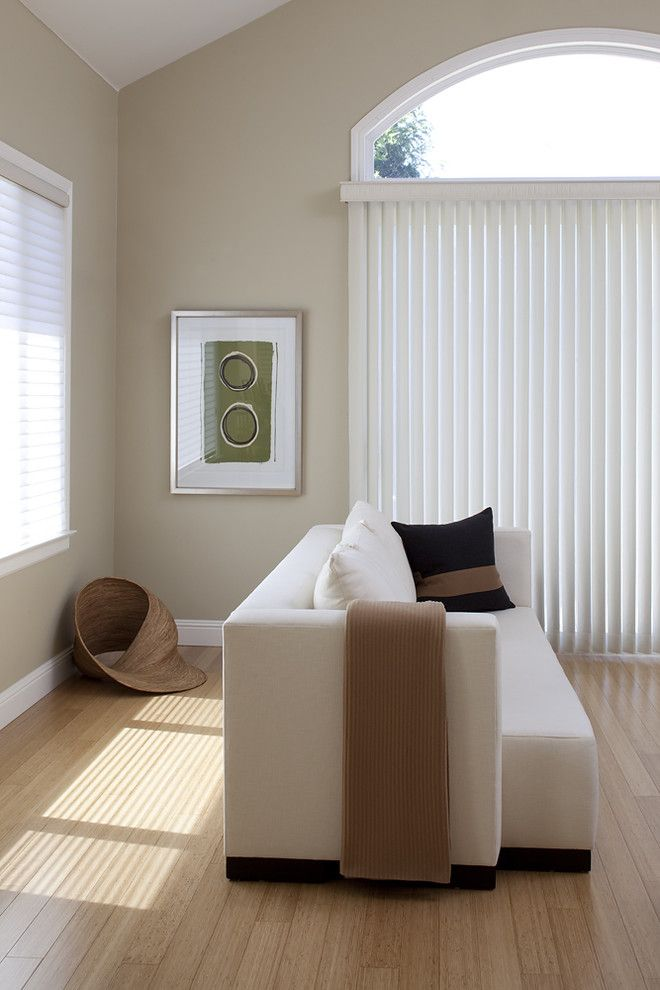 Benjamin Moore Shaker Beige for a Contemporary Family Room with a Neutral Colors and Family Room by Mark Newman Design