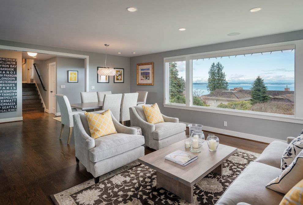 Benjamin Moore Stonington Gray for a Contemporary Living Room with a Coffee  Table and Dyna Blakely - Benjamin Moore Stonington Gray For A Beach Style Dining Room With