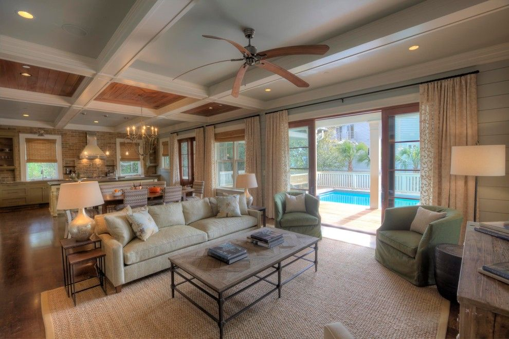 Benjamin Moore Tranquility for a Traditional Family Room with a Curtains and Family Room by Phillip W Smith General Contractor, Inc.