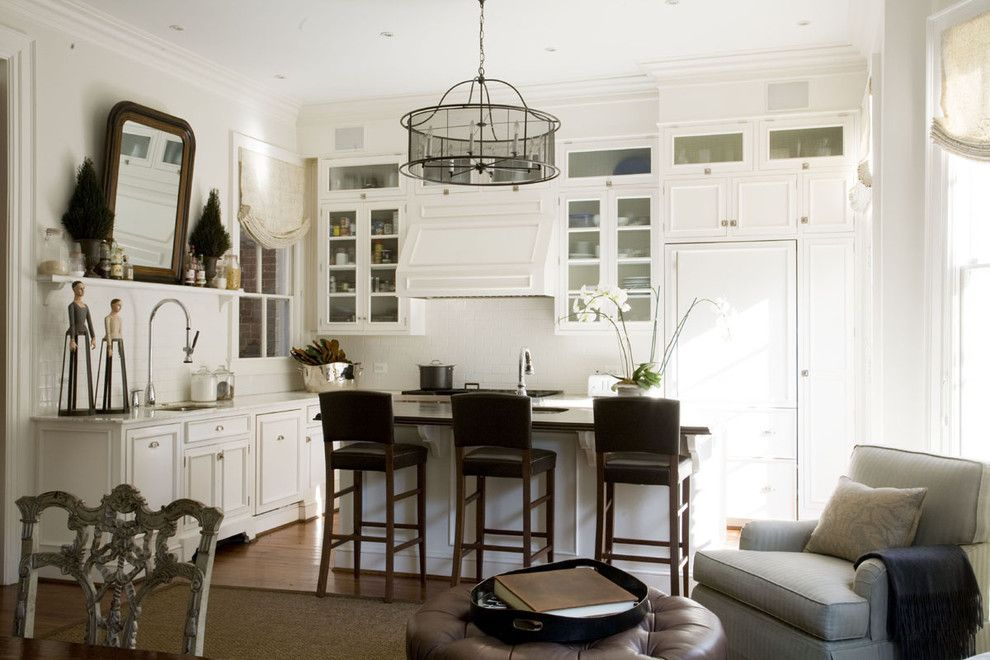 Benjamin Moore White Dove for a Traditional Kitchen with a Neutral Colors and Georgetwon House by Patrick Sutton Associates