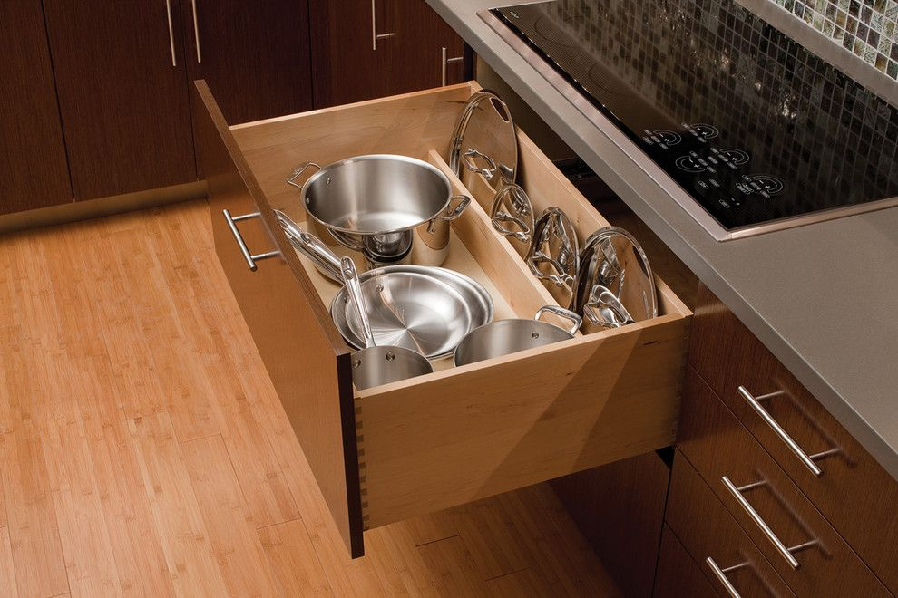 Berenson Hardware for a  Spaces with a Urban Loft Kitchen and Urban Loft   Storage Solutions by Dura Supreme Cabinetry