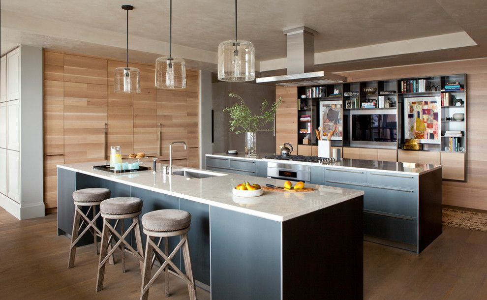 Berger Appliance for a Contemporary Kitchen with a Tray and Fourseasons by Fab Architecture