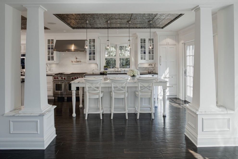 Berger Appliance for a Traditional Kitchen with a Wood Flooring and Evanston Project by Jane Kelly, Kitchen and Bath Designer