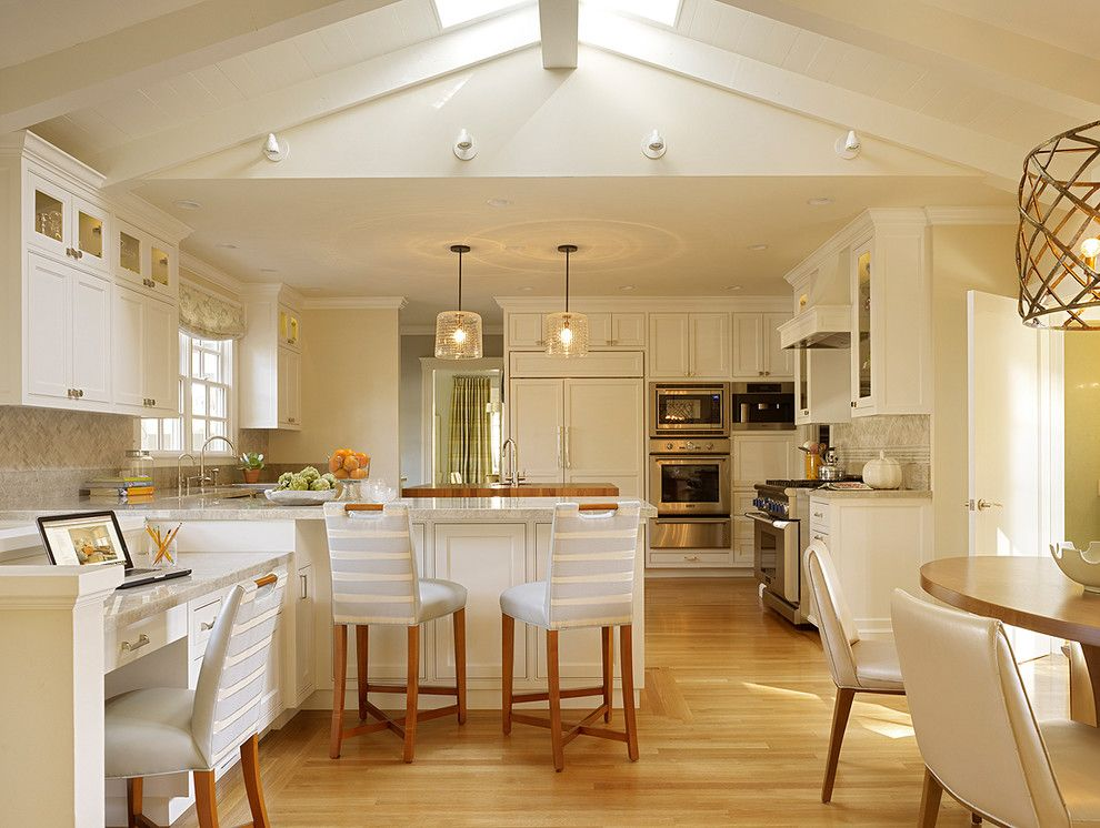 Berger Appliance for a Transitional Kitchen with a White Shaker Panel Cabinets and Palo Alto Residence by Melanie Coddington