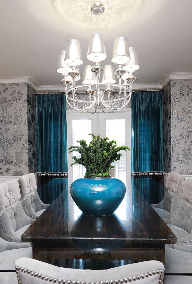 Bernhardt Interiors for a Transitional Dining Room with a Upholstered Dining Chairs and Sask Cres Dining Room by Atmosphere Interior Design Inc.
