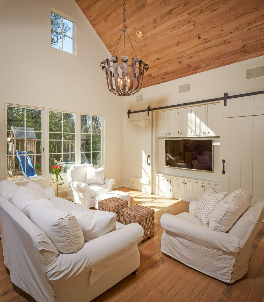 Better Built Barns for a Traditional Family Room with a Stool and Shasta by Thompson Custom Homes