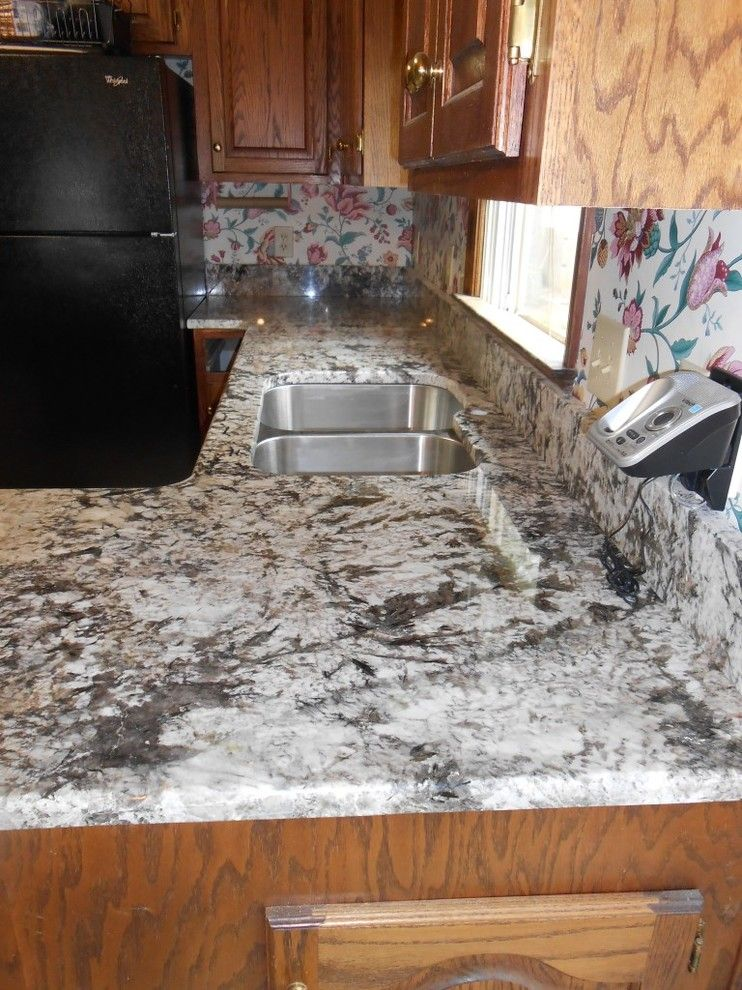 Bianco Antico Granite for a Traditional Kitchen with a Granite Countertop and Bianco Antico Granite Countertop Color Examples by Fireplace & Granite Distributors