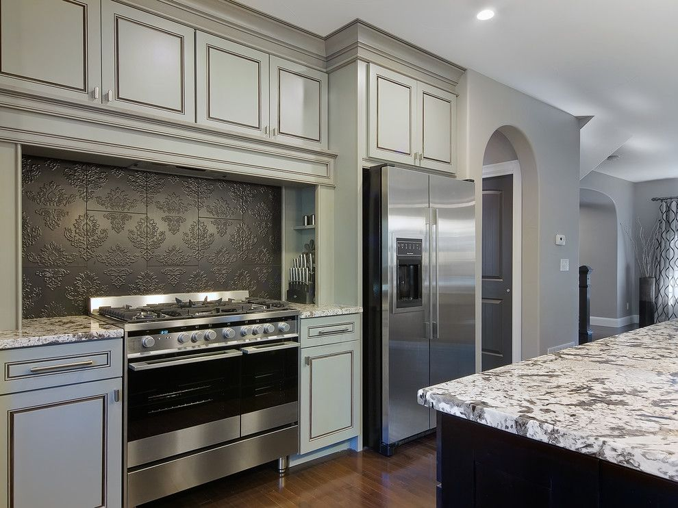 bianco antico granite for a traditional kitchen with a traditional and park hill renovation by lowery