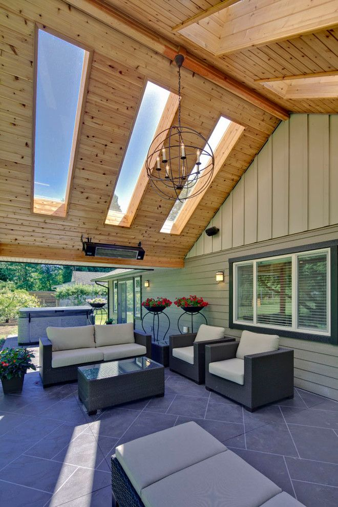 Big Sky Brokers for a Traditional Patio with a Sky Lights and Outdoor Living Area with Skylight by My House Design Build Team