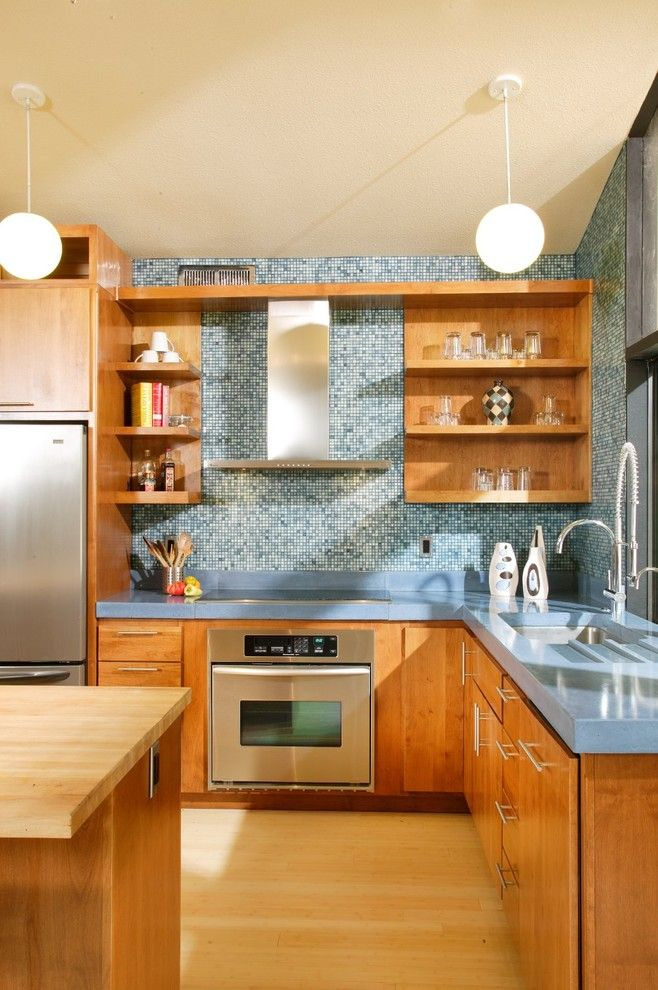 Bill Smith Appliances for a Midcentury Kitchen with a Alder and Mid Century Modern Revival Kitchen by Shasta Smith by Shasta Smith   Cid #6478