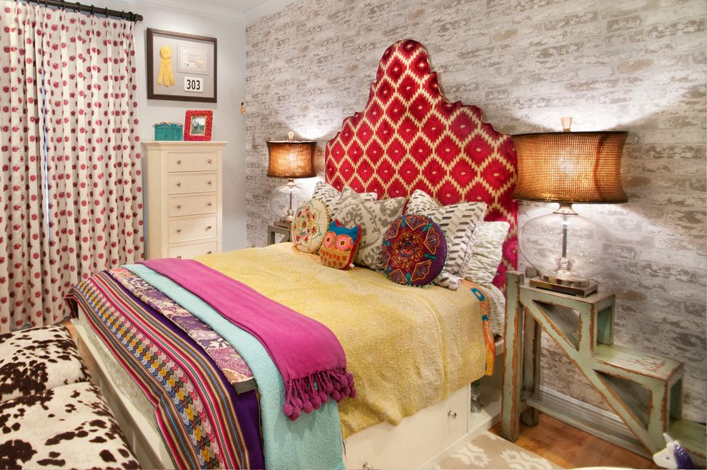 Billows Electric for a Eclectic Bedroom with a Girls Room and Turtle Trail Residence by A.clore Interiors