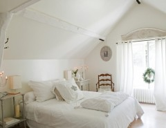 Billows Electric for a Shabby-Chic Style Bedroom with a Blanc and French Country Home by Catherine Sandin