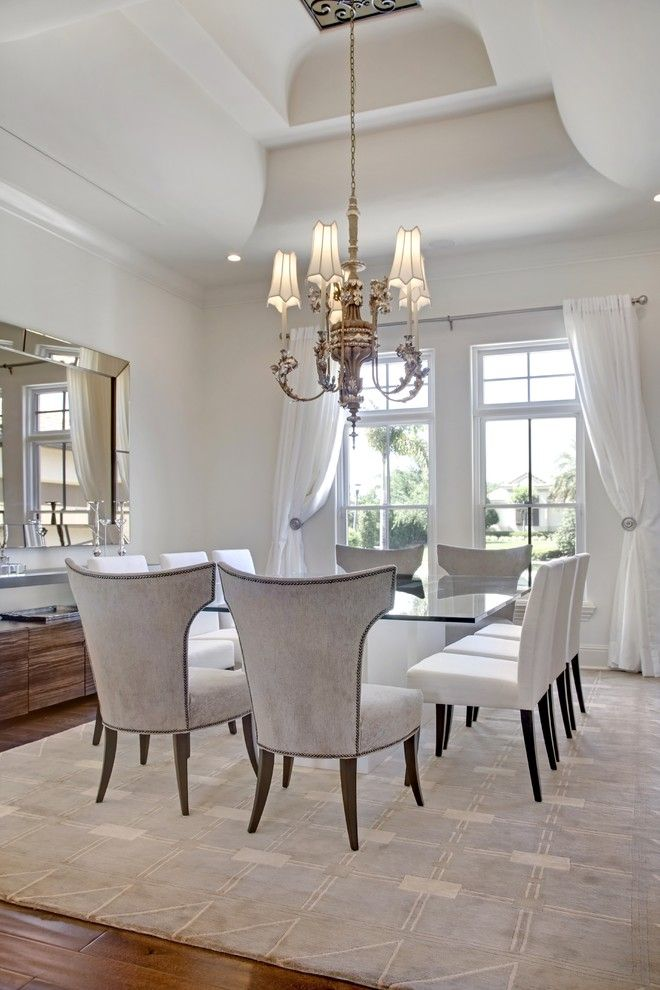 Billows Electric for a Transitional Dining Room with a Neutral Colors and Dining Room by Sunscape Homes, Inc