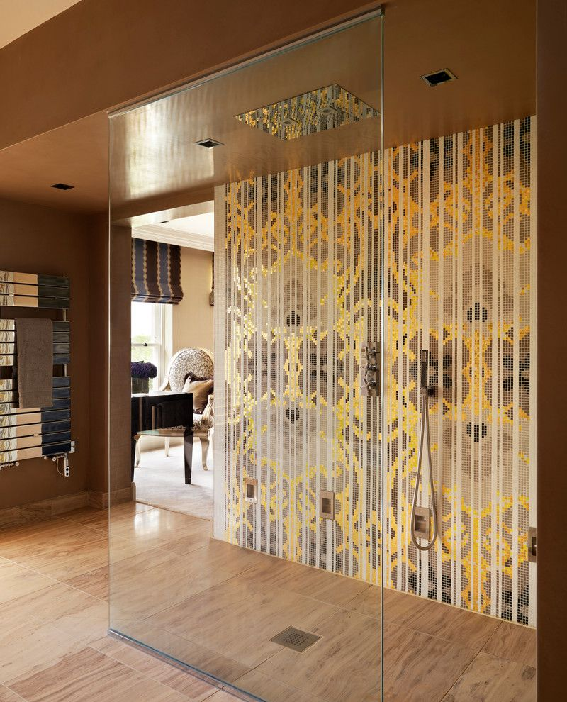 Bisazza for a Contemporary Bathroom with a Family Home and Country House en Suite Bathroom by Oliver Burns