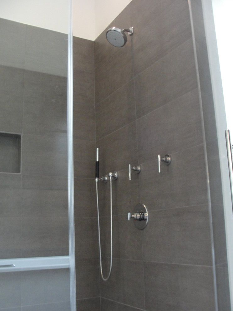Blackman Plumbing for a Contemporary Bathroom with a Walk in Shower and Hamptons 2 by Blackman Plumbing Supply