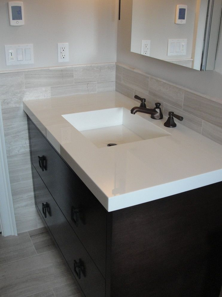 Blackman Plumbing for a Transitional Bathroom with a Marble and Traditional Hamptons with a Twist by Blackman Plumbing Supply