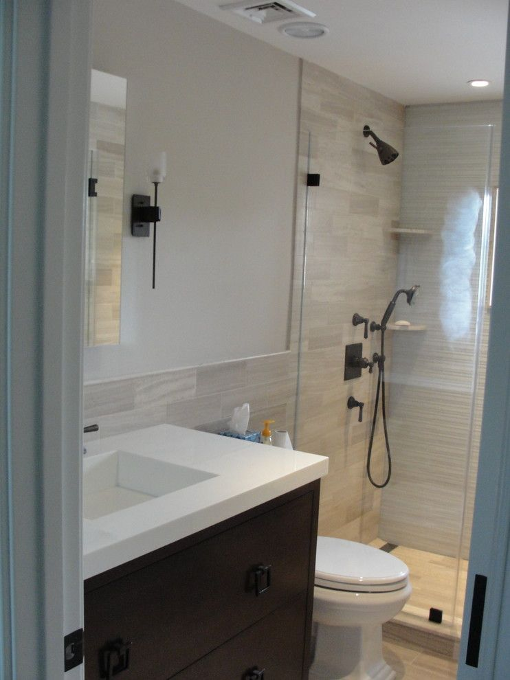 Blackman Plumbing for a Transitional Bathroom with a Vanity and Traditional Hamptons with a Twist by Blackman Plumbing Supply