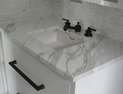 Blackman Plumbing Supply for a Transitional Bathroom with a Vanity and Traditional Hamptons with a Twist by Blackman Plumbing Supply