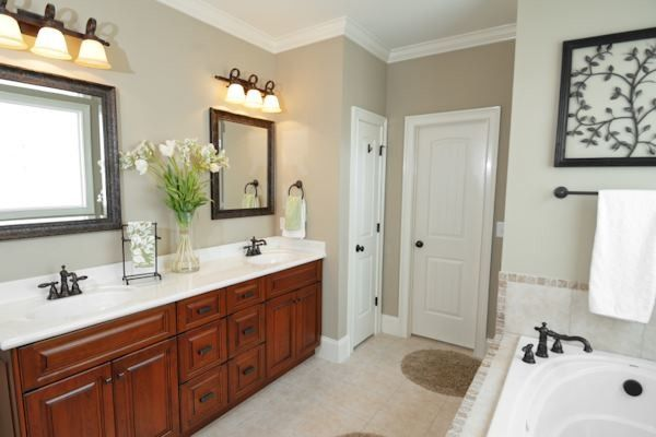 Bleeker Beige for a Traditional Bathroom with a Vanity and Collection by Viscusi Builders LTD.