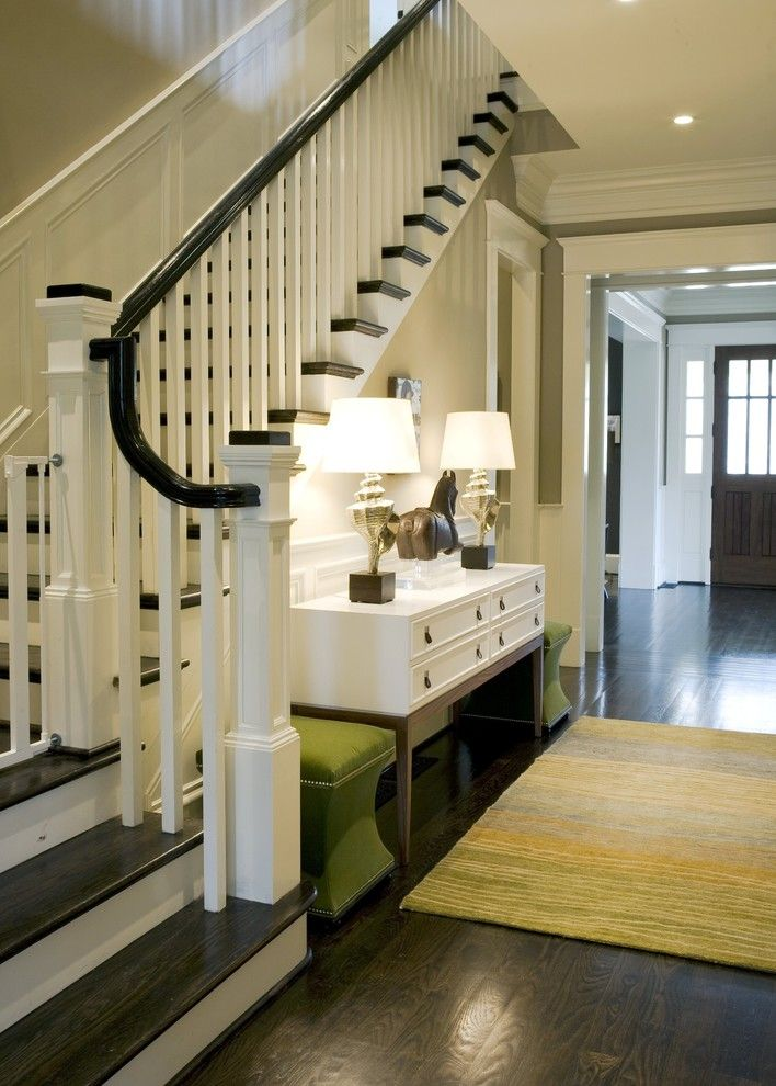 Bleeker Beige for a Traditional Entry with a White Wood and Stair by Brian Watford Id