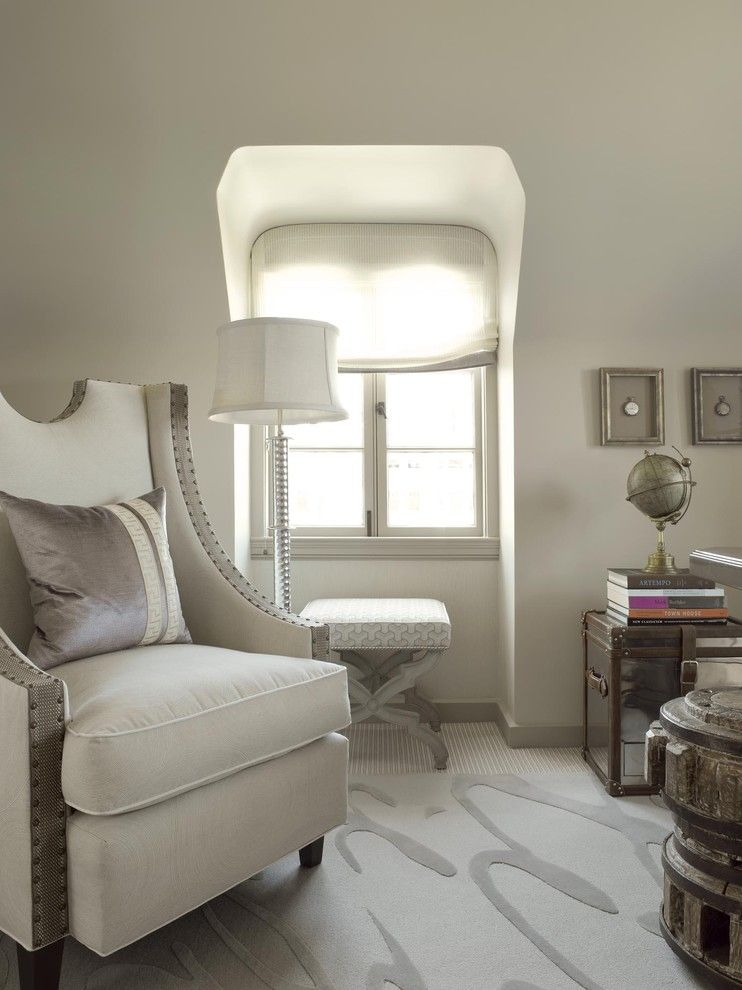 Bleeker Beige for a Traditional Home Office with a Area Rug and