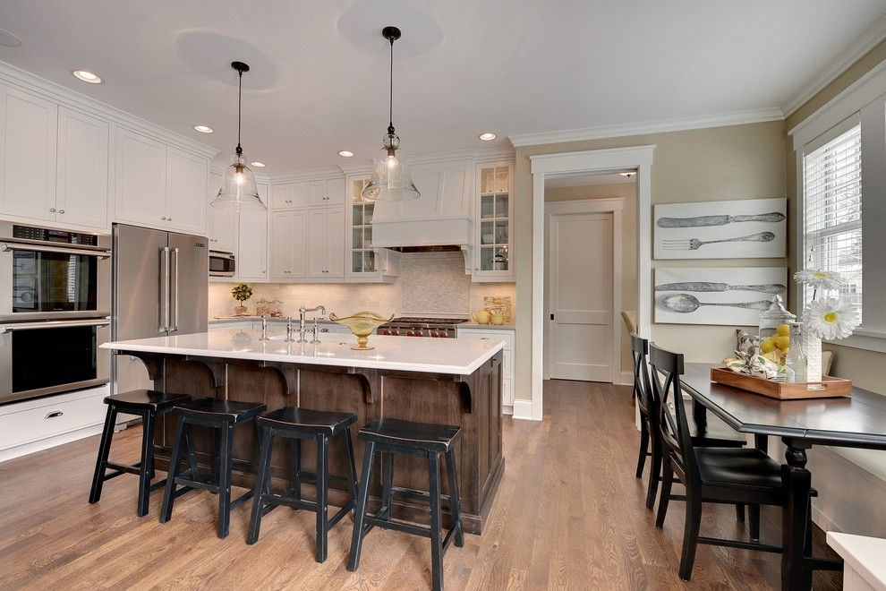 Bleeker Beige for a Traditional Kitchen with a Subway Tile and 2013 Spring Parade of Homes by Highmark Builders