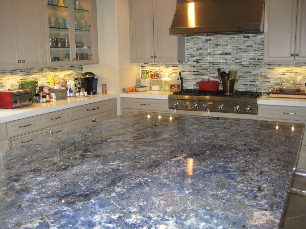 Blue Bahia Granite for a Traditional Kitchen with a Blue Bahia Granite and Kitchen: Blue Bahia Granite Island by Labruyere Stone