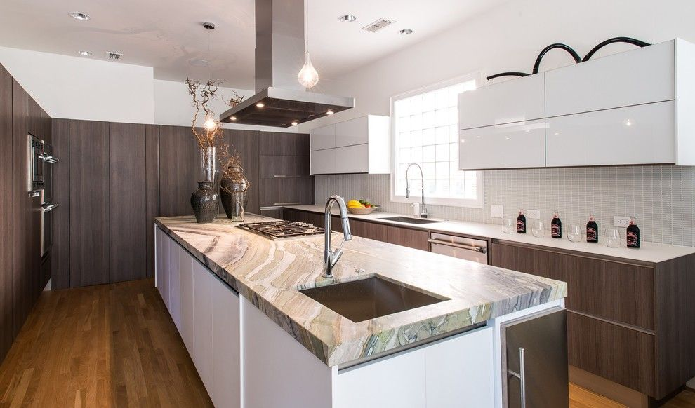 Blueprint Dallas for a Contemporary Kitchen with a Sleek and River Jade Modern Kitchen by Aria Stone Gallery