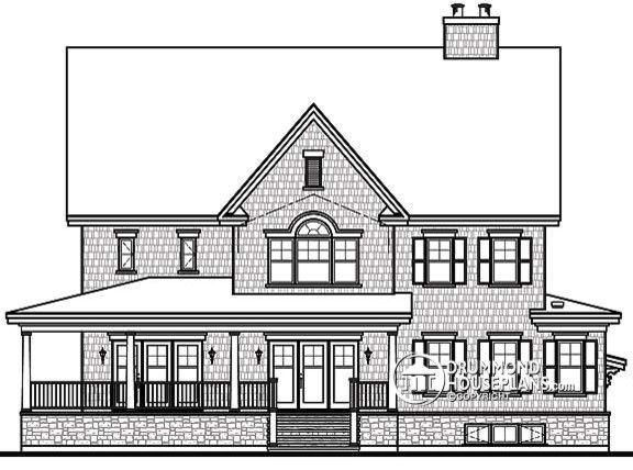 Blueprint Dallas for a Farmhouse Exterior with a Home and Traditional Home Plan No. 3848 by Drummond House Plans by Drummond House Plans