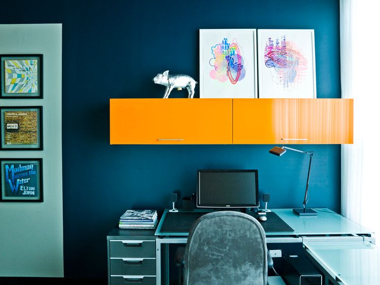 Bo Concept for a Contemporary Home Office with a Contemporary and My Houzz: A Chicago Auto Shop Revs Up to a Cool Home by Cynthia Lynn Photography