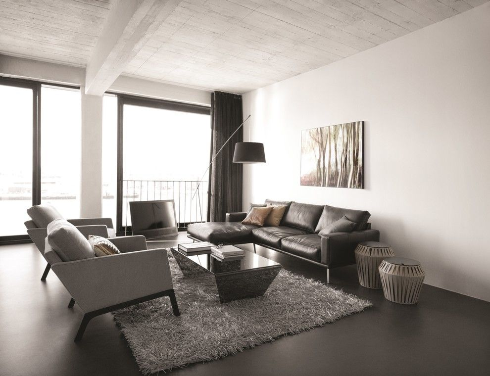 Bo Concept for a Contemporary Living Room with a Coffee Table and Boconcept Carlton Sofa & Monte Armchair by Boconcept Bristol